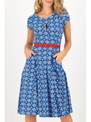 Blutsgeschwister modré šaty Sally Tomatoe Windmolen Land