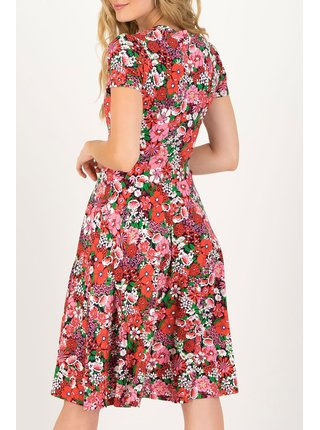 Blutsgeschwister barevné květované šaty Urlaub Auf Balkonien Eau De Bloem