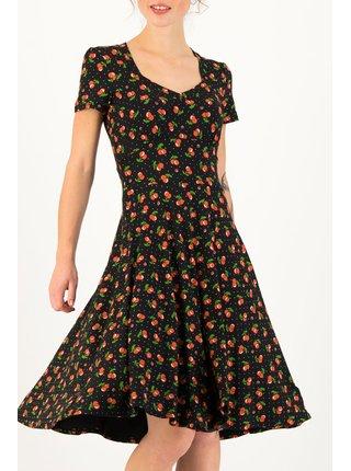 Blutsgeschwister černé šaty Urlaub Auf Balkonien Cherry Ladybug