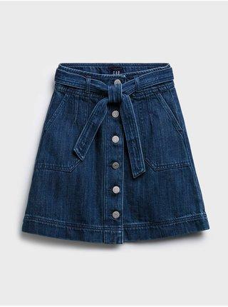 Modrá holčičí dětská sukně denim tie med skirt