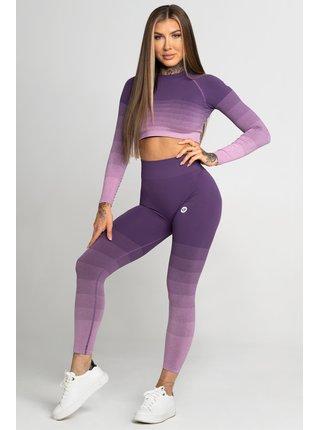 Legíny Gym Glamour Bezešvé Violet Ombre