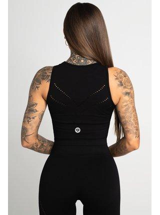Tílka Gym Glamour Top Asymetrický Black