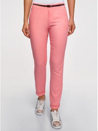 Kalhoty zúžené s páskem OODJI