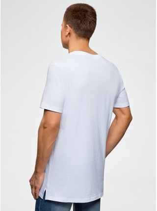 Tričko bavlněné s rozparky na bocích OODJI