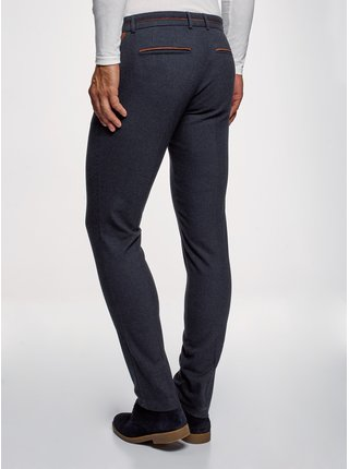 Kalhoty slim fit s kontrastními prvky OODJI