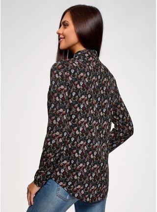 Košile z viskózy s kapsami na prsou OODJI