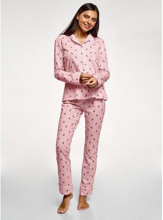 Pyžamo bavlněné potištěné OODJI