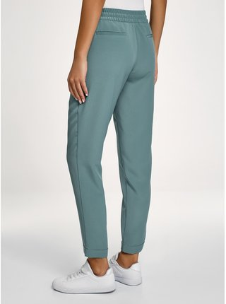 Kalhoty z tenkého splývavého materiálu OODJI