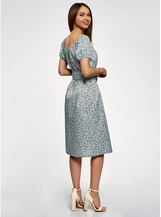 Šaty s páskem a raglánovými rukávy OODJI