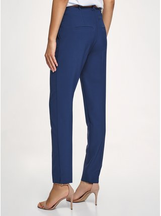 Kalhoty zúžené s kontrastním páskem OODJI