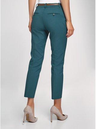 Kalhoty zkrácené s páskem OODJI