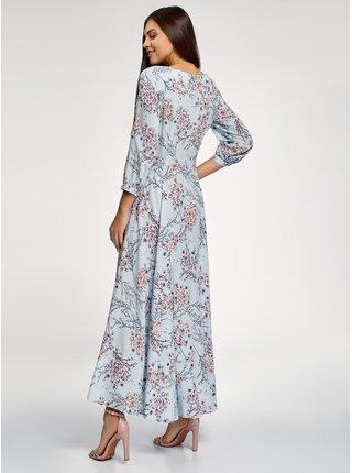 Šaty maxi s knoflíčky OODJI