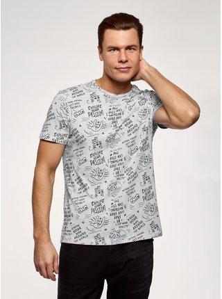 Tričko s potiskem bavlněné OODJI