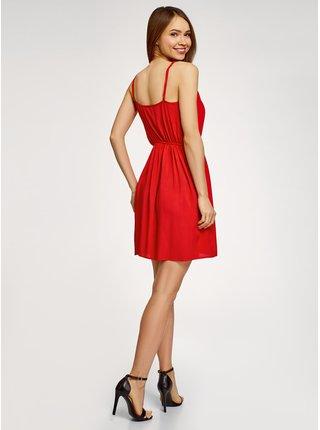 Šatová sukně klasická s úzkými ramínky OODJI