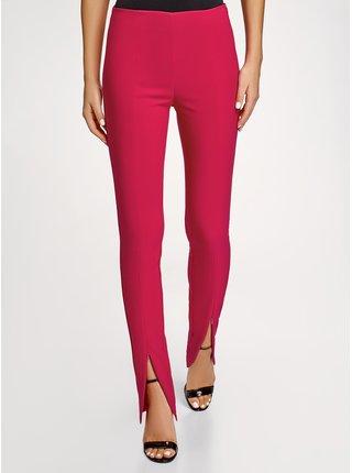 Kalhoty zúžené s vysokým pasem OODJI