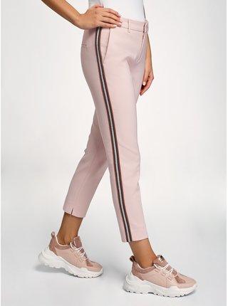 Kalhoty zúžené s lampasy OODJI