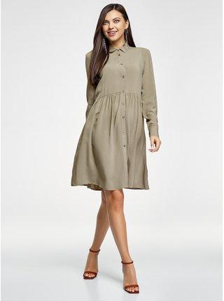 Košeľové šaty pre ženy oodji