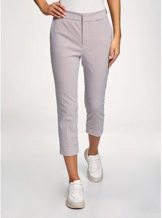 Kalhoty bavlněné s ohrnutými nohavicemi OODJI