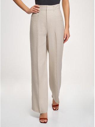 Kalhoty rovné lněné OODJI