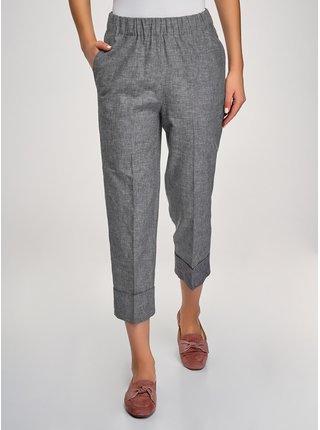 Kalhoty s gumou a ohrnutými nohavicemi OODJI