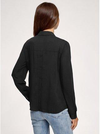 Košile volná - nevypasovaná s ozdobnými knoflíčky na zádech OODJI
