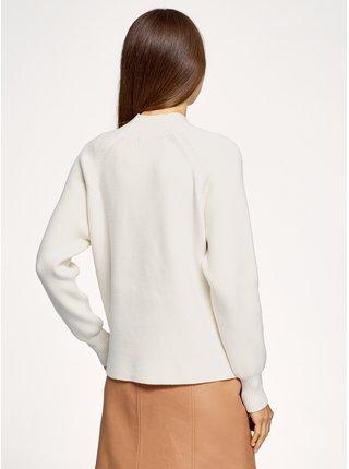 Pulovr pletený s výrazným vzorem rovného střihu OODJI