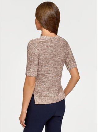 Pulovr pletený s krátkým rukávem OODJI
