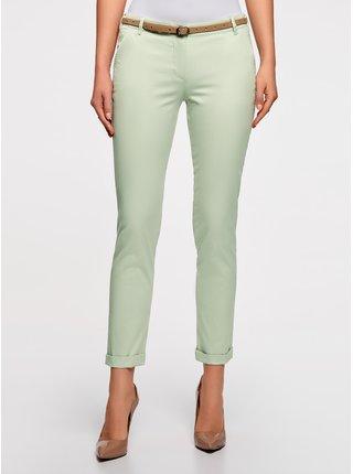 Kalhoty typu chinos s páskem perforovaným hvězdami OODJI