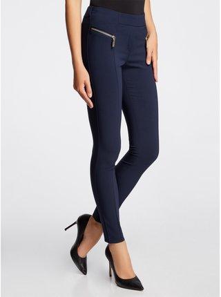 Kalhoty úzké s ozdobnými zipy OODJI