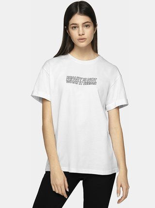 Dámské tričko 4F TSD212  Bílá