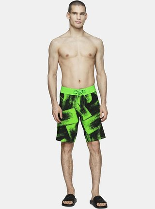 Pánské plážové šortky 4F SKMT006  Zelená