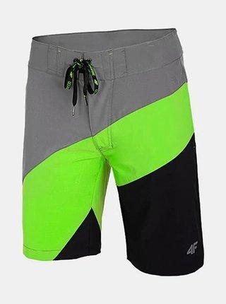 Pánské plážové kraťasy 4F SKMT005 zelená neon