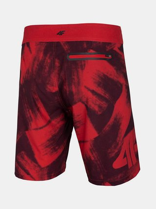 Pánské plavkové šortky 4F SKMT006  Červená