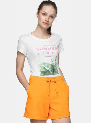 Dámské tričko 4F TSD250  Bílá