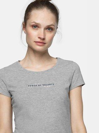 Dámské tričko 4F TSD237  Šedá