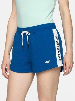 Dámské teplákové šortky 4F SKDD003  Modrá