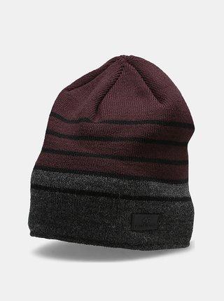 Pánská zimní čepice 4F CAM301  Vínová