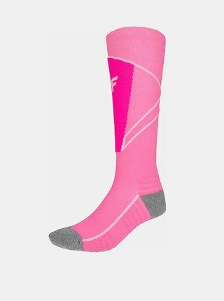 Dámské lyžařské ponožky 4F SODN200  Růžová