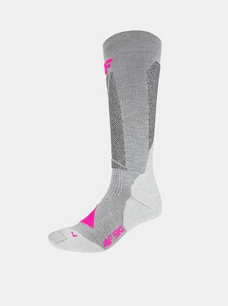 Dámské lyžařské ponožky 4F SODN202  Šedá