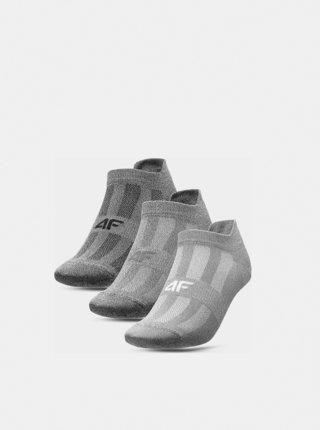 Pánské sportovní ponožky (3 páry) 4F SOM213  Šedá