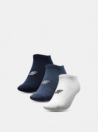 Pánské ponožky (3 páry) 4F SOM301  Bílá