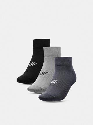 Pánské ponožky (3 páry) 4F SOM302  Šedá