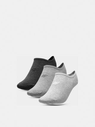 Pánské ponožky (3 páry) 4F SOM300  Šedá