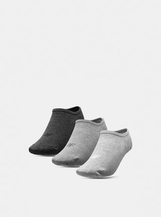 Dámské ponožky (3 páry) 4F SOD301  Šedá