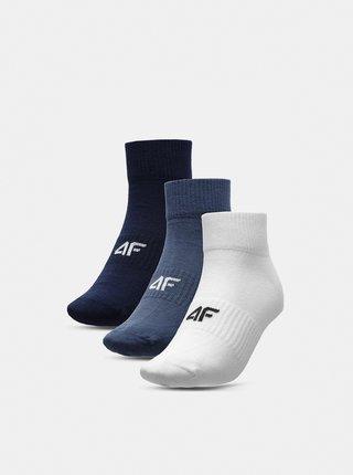 Pánské ponožky (3 páry) 4F SOM302  Bílá