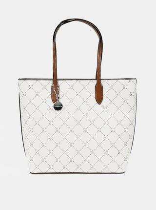 Bílý vzorovaný shopper Tamaris