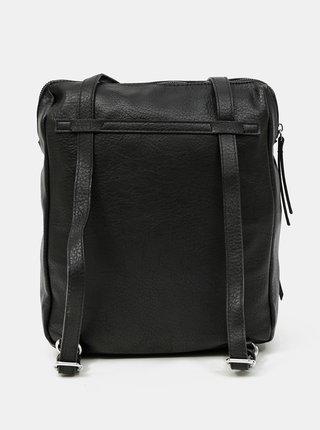 Čierna kabelka/batoh s ozdobným strapcom Tamaris