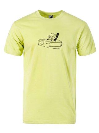 Horsefeathers BUTTER lemon grass pánské triko s krátkým rukávem - zelená