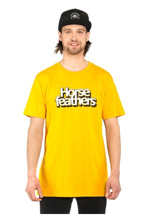 Horsefeathers MERCURY CITRUS pánské triko s krátkým rukávem - žlutá