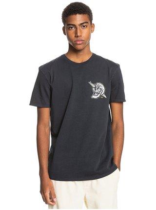 Quiksilver SUMMER SKULL black pánské triko s krátkým rukávem - černá